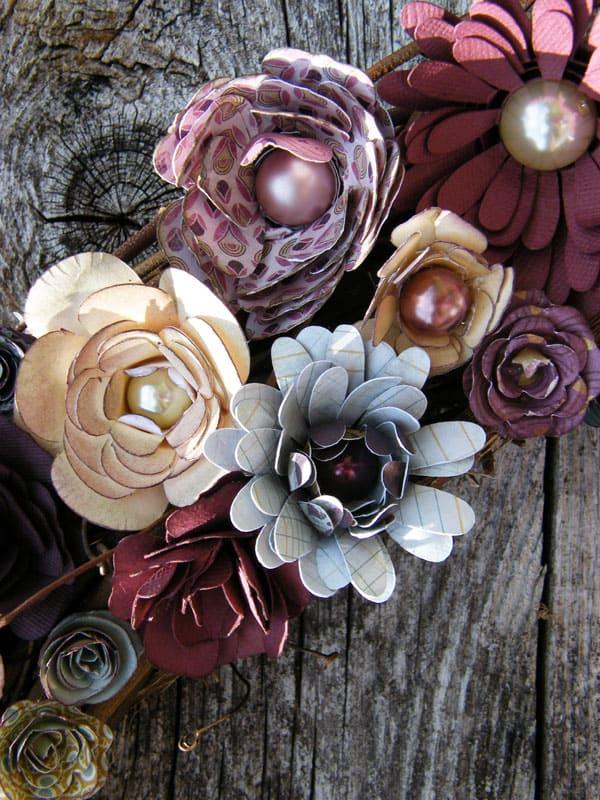 A Beautiful Paper Flower Wreath - FYNES DESIGNS | FYNES DESIGNS