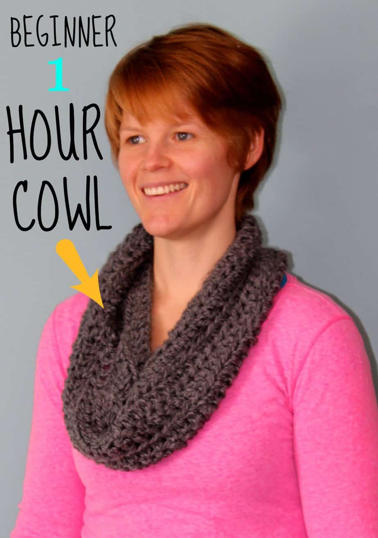 Crochet Beginner 1 Hour Cowl Fynes Designs