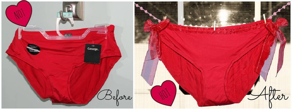 Flirty Valentine Panty Refashion - FYNES DESIGNS | FYNES DESIGNS