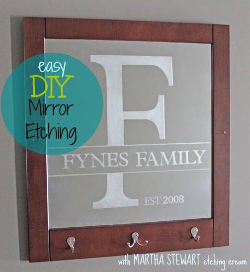 Easy Mirror Etching With Martha Stewart Crafts Fynes Designs