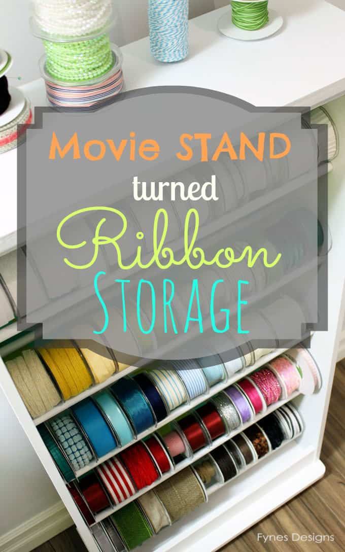Iu0027m sure you can imagine the amount of ribbon a Ribbonista would acquire. But what do we do for ribbon storage? We decided to share all our ideas with the ... & Ribbon Storage Rack - FYNES DESIGNS | FYNES DESIGNS