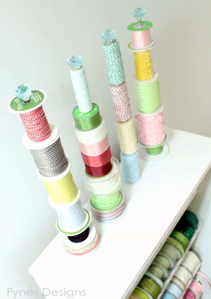 ribbon organization idea from fynesdesigns.com