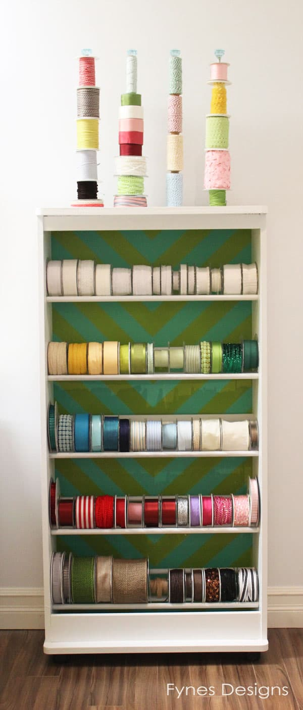 I started to organize my May Arts ribbon by color but to maximize the space a few rolls had to be placed out-of-order. As my collection expands ... & Ribbon Storage Rack - FYNES DESIGNS | FYNES DESIGNS