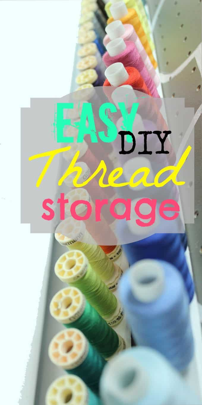 I Knew When Creating My New Craft Space I Was Going To Need To Dedicate  More Space For Thread Storage. I Came Up With This DIY And Had To Show You  How ...