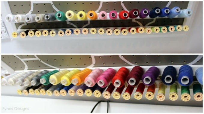 Diy Thread Rack Tutorial Craft Room Fynes Designs