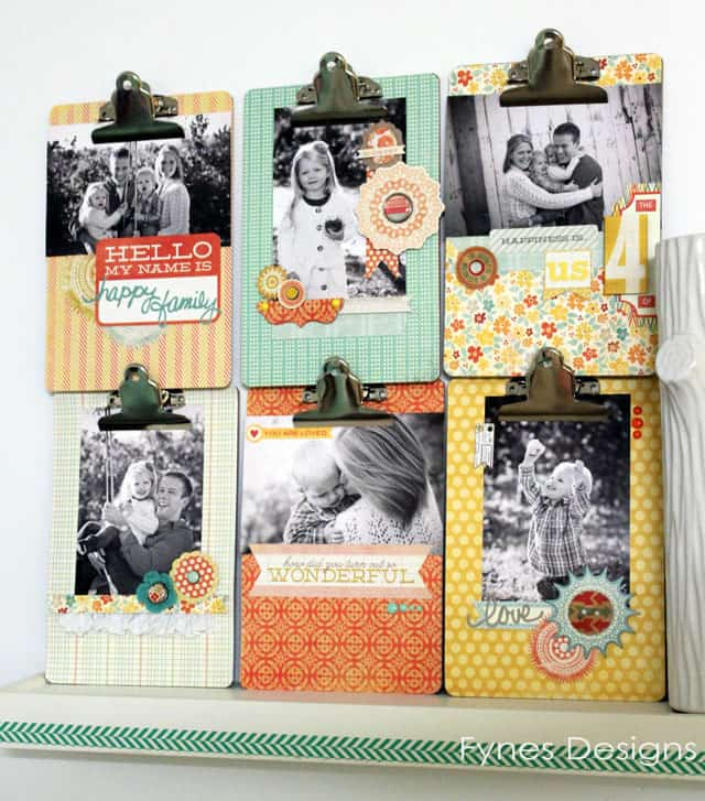 Clipboards embellished to hold photos from Fynes Designs.com