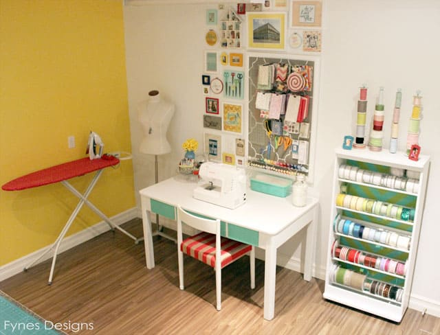 Craft room reveal fynes designs fynes designs Sewing room ideas for small spaces