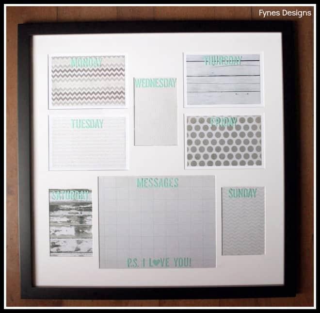 Dry Erase Calendar Canada : Weekly dry erase calendar fynes designs