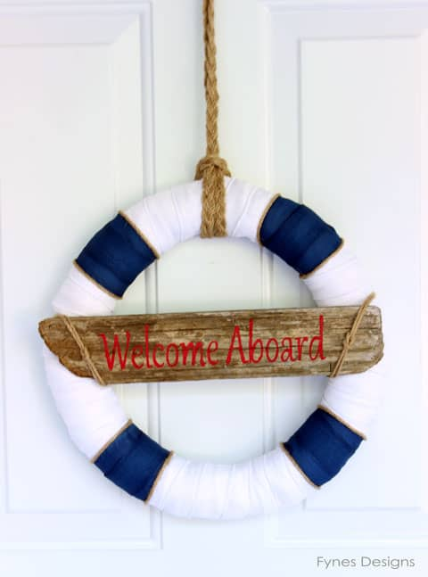 Nautical Door Decor from Fynes Designs #nautical #wreath #summer #mayartsribbon #welcome