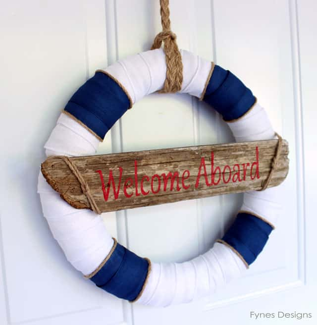 Nautical Decor Centerpieces: Nautical Decor Wreath... Inspired By Lunenburg Nova Scotia