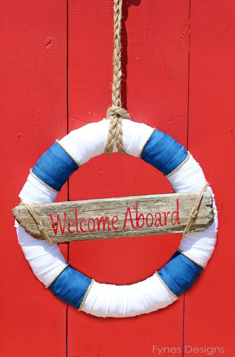 Welcome Aboard wreath #nautical #wreath #beach #summer #ocean