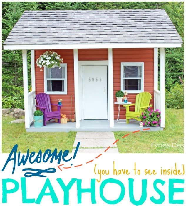 Kids playhouse ribbon cutting ceremony giant giveaway for Awesome playhouse plans