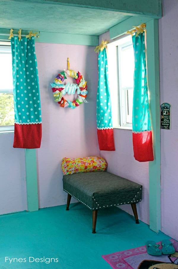 diy playhouse curtains