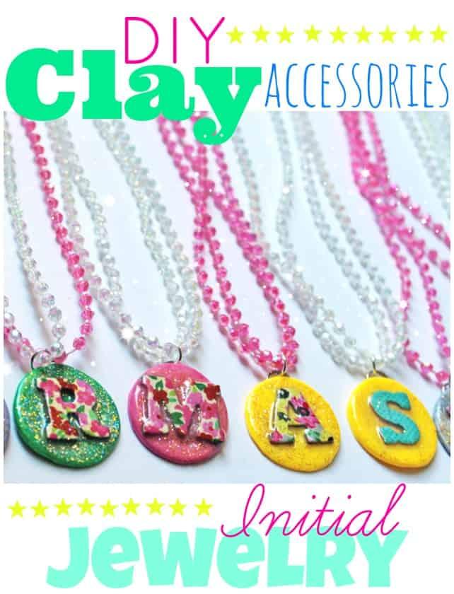 Kids Diy Clay Initial Jewelry Fynes Designs