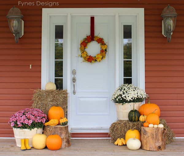 Fall porch decorating ideas fynes designs fynes designs Small front porch decorating ideas for fall