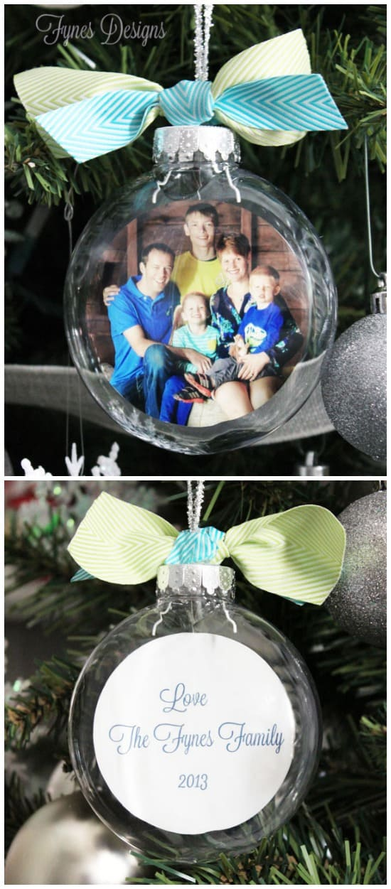 DIY-galss-picture-ornament Gamer Christmas Ornaments