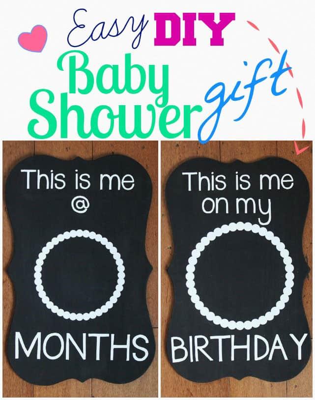 Easy Diy Baby Shower Gift Photo Prop Sign Fynes Designs