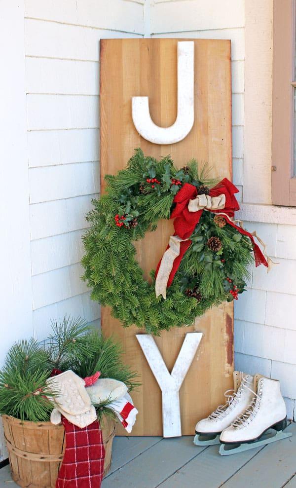 The Great Canadian Wreath Hop Joy Outdoor Sign Fynes Designs