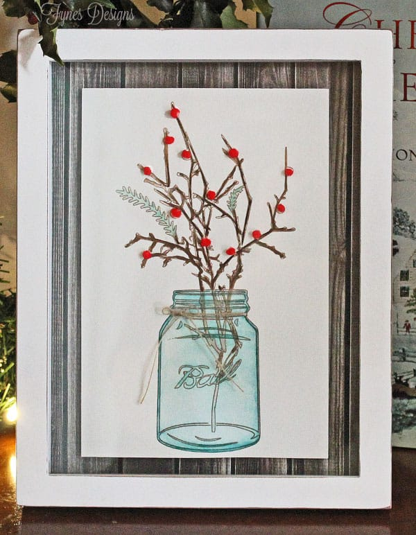 Follow These Simple Steps To Create This Mason Jar Watercolour Artwork
