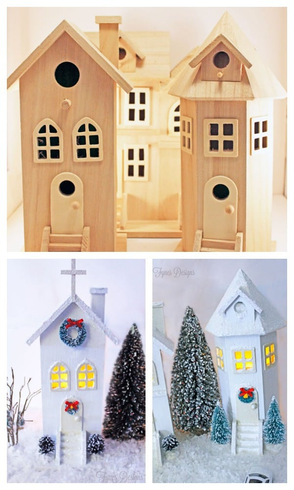 before-after-village Paint Designs Easy Diy Bird House on crooked bird houses, artistic bird houses, easy bird house designs, diy recycled bird houses,