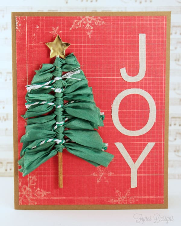 Ribbonista Christmas Card Ideas- A Simple Skewer Tree