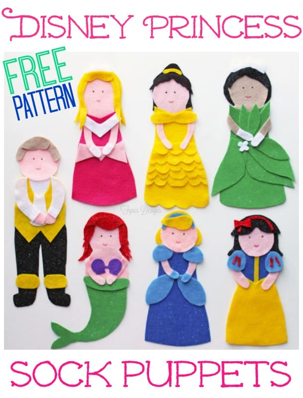 NO SEW Princess Puppets- click for a FREE pattern!