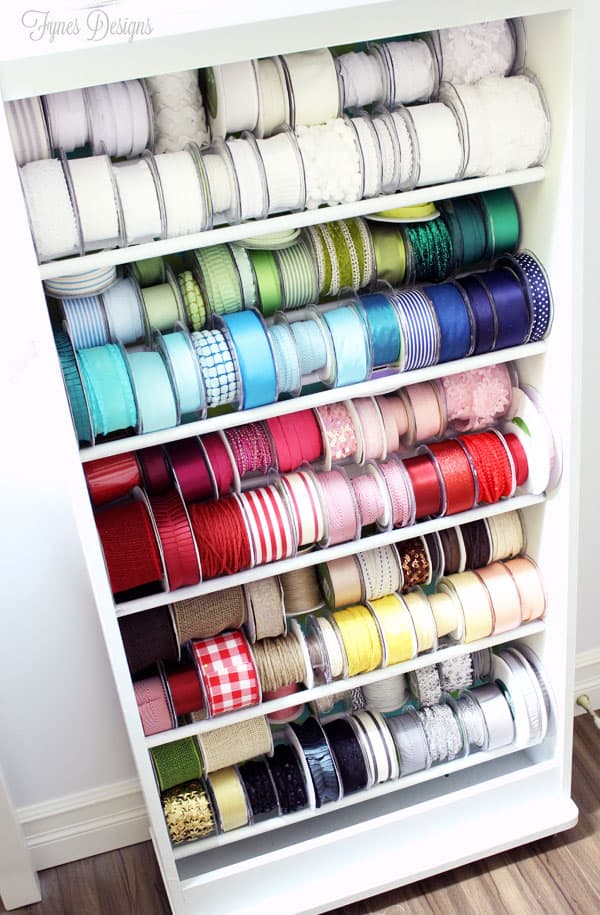 DIY Ribbon Storage Rack