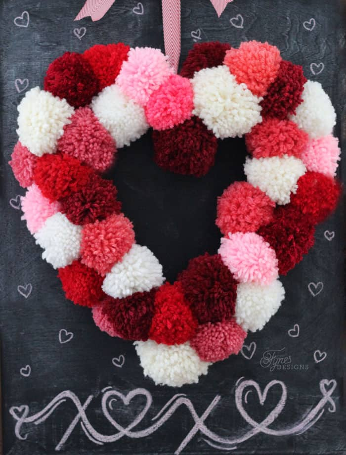 Classroom Door Decoration Ideas For Valentines ~ How to make a heart shaped wreath form fynes designs