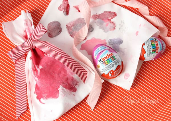 kids craft valentines day painted treat bags