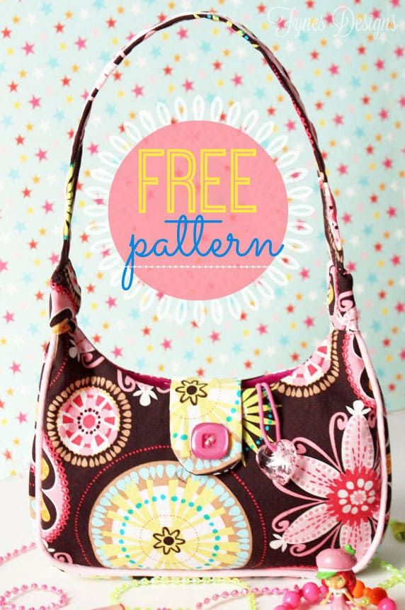 Free Sewing Pattern- Girl\'s Purse - FYNES DESIGNS | FYNES DESIGNS