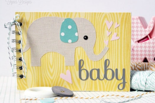 Sweet Baby Wishes Album perfect for a Baby shower #baby #babyshowerideas #xyron #elephant