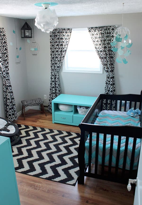 is one lucky boy with this fun baby boy nursery