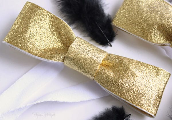 Gold bow tie tutorial