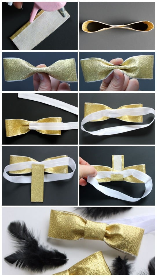 How to make a no sew bow tie or hairband