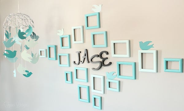 I Love This Unique Focal Wall What An Inexpensive Idea To Tie In The Baby S Name
