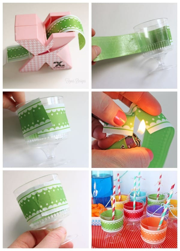 Party Idea Decorated Plastic Cups FYNES DESIGNS FYNES DESIGNS