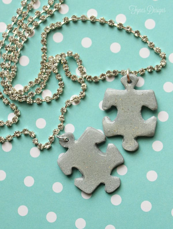puzzle piece necklace for autism awareness day fynes