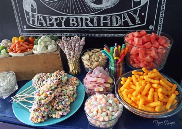 My Baby Is 3 A Chalkboard Birthday Party Idea Fynes Designs