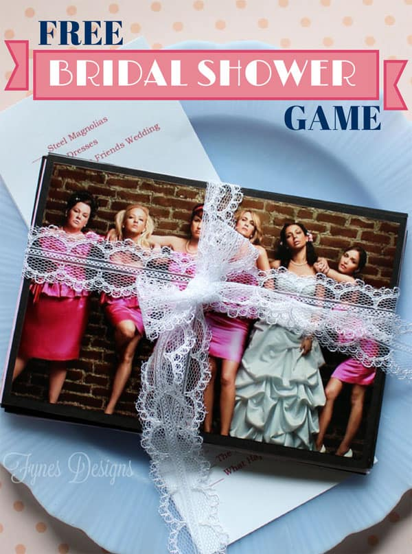 Fun Bridal shower game based on wedding themed movies
