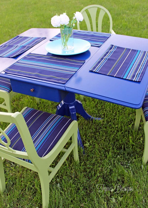 Painted Outdoor Dining Set FYNES DESIGNS FYNES DESIGNS