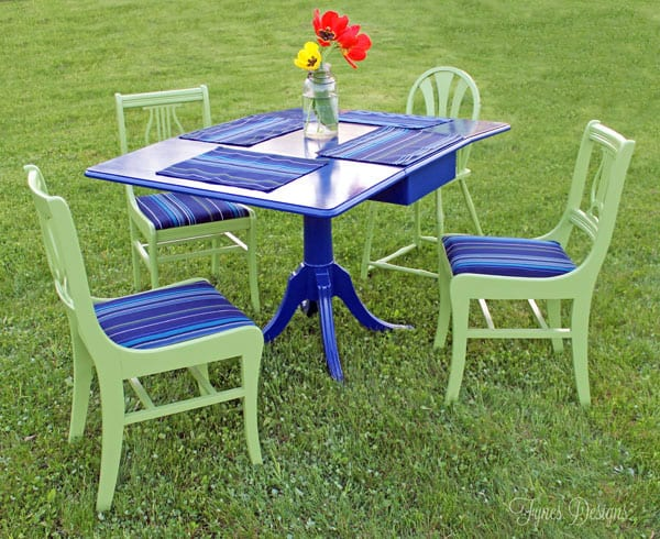 Painted Outdoor Dining Set - FYNES DESIGNS