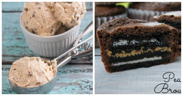 Edible Cookie Dough- A Mom's Take Oreo Peanut Butter Brownie Cupcakes from What Rose Knows