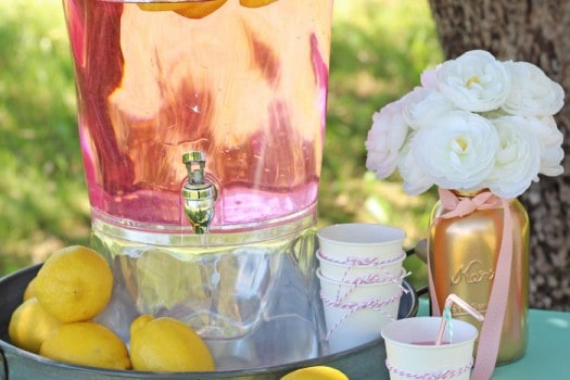Delicious Pink Lemonade- super sweet lemonade stand ideas