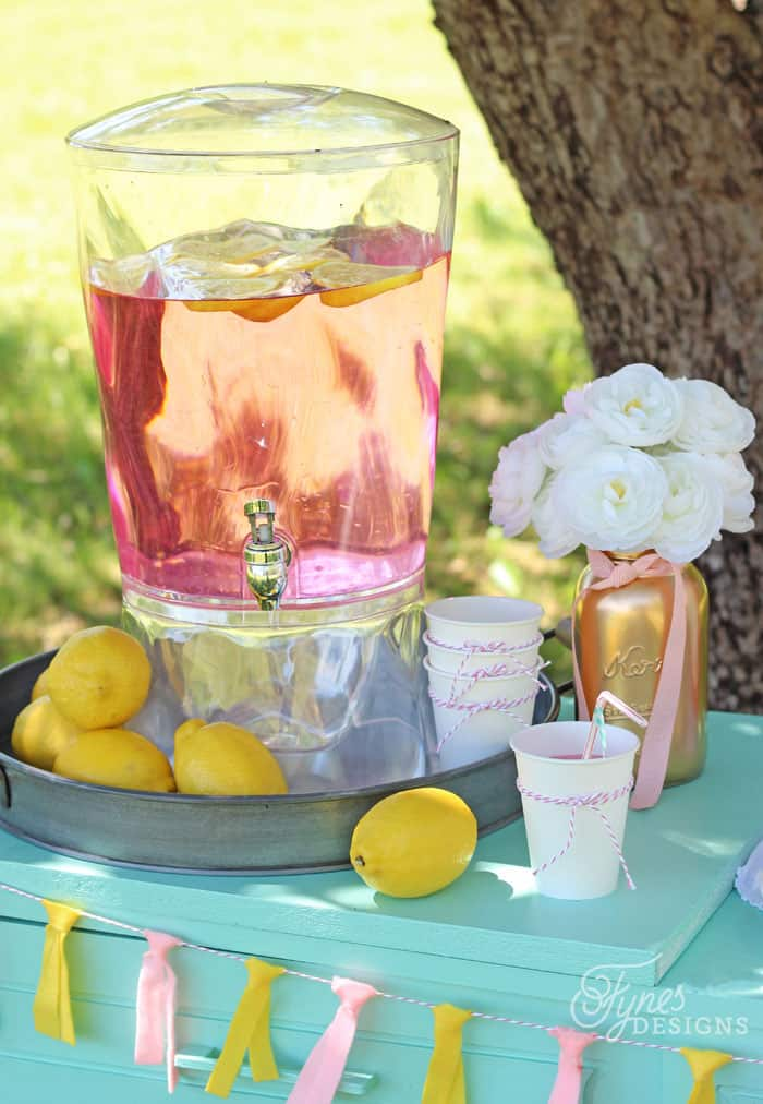 Low-cost Ideas for Making A Pink Lemonade Stand | FYNES DESIGNS