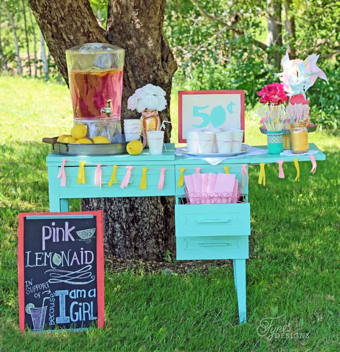 Low Cost Ideas For Making A Pink Lemonade Stand Fynes