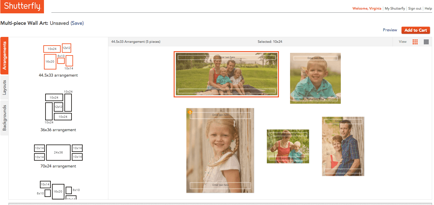 Make An Easy Gallery Wall With Shutterfly Design A Tool