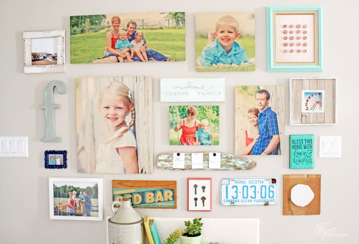 make an easy gallery wall with shutterfly design a wall tool fynes