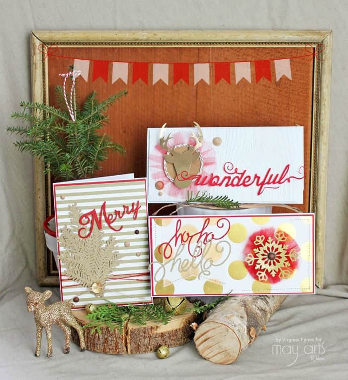 red and gold christmas card ideas fynes designs fynes