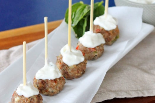 Easy to make Greek Meatballs a healthy party recipe