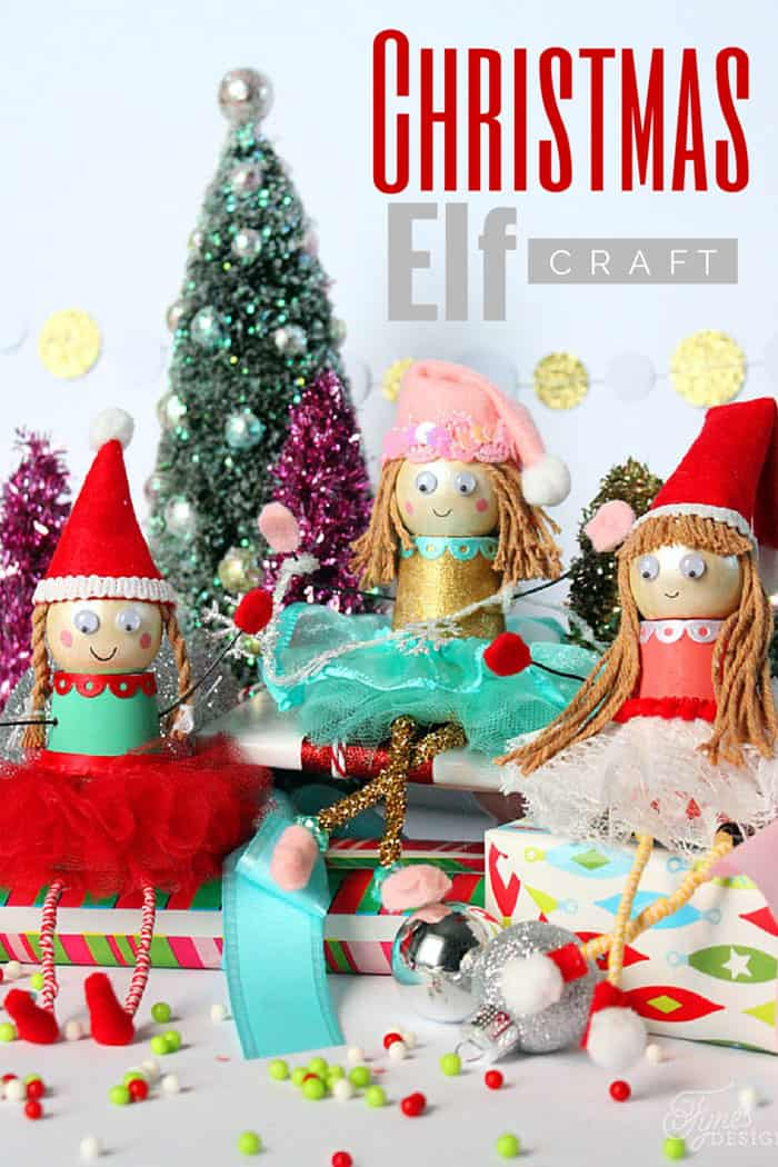 Christmas Elf Kids Craft - FYNES DESIGNS | FYNES DESIGNS